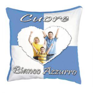 cuscino squadra del cuore Bianco Azzurro
