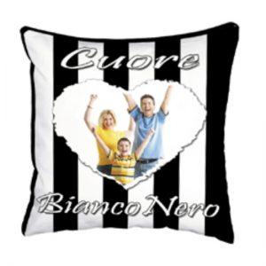 cuscino squadra del cuore Bianco Nero