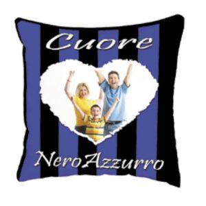 cuscino squadra del cuore Nero Azzurro