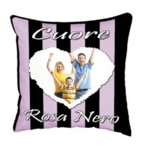 cuscino squadra del cuore Rosa Nero