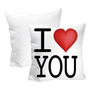 Cuscino San Valentino modello I LOVE YOU