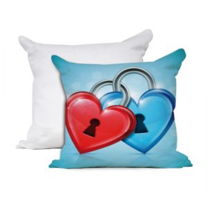 Cuscino San Valentino modello lock heart