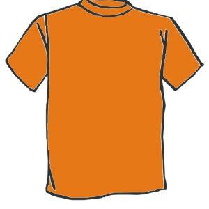 Maglietta colore Arancio personalizzata