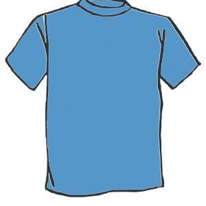 Maglietta colore Azzurra personalizzata