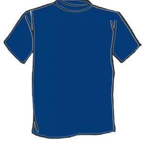 Maglietta colore Blu personalizzata