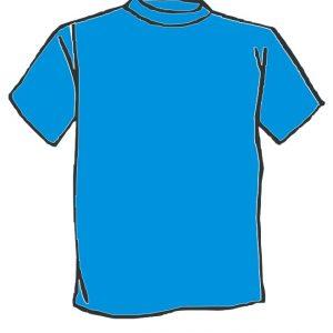 Maglietta colore Celeste  personalizzata