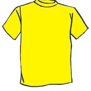 Maglietta colore Giallo personalizzata