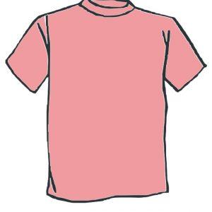 Maglietta colore Rosa personalizzata
