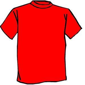 Maglietta colore Rosso personalizzata